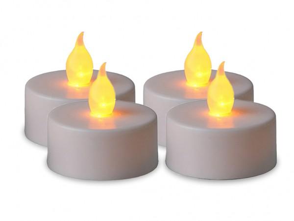 LED-Teelicht | Kunststoff | Paulo-Design | flackernde LED | →4cm | ↑4cm | Weiß