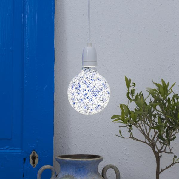 LED Leuchtmittel DEKOLED G130 MOSAIK BLUE - E27 - 4W - NW 4000K - 110lm