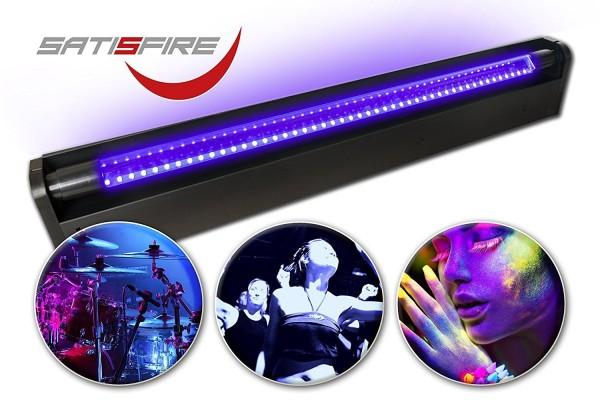 Schwarzlicht LED UV Röhre 60cm Komplettset | 10W High Power | Longlife | Bruchsicher | SATISFIRE®