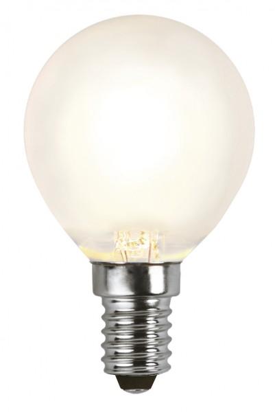 LED Tropfenlampe FILA P45 - E27 - 4W - WW 2700K - 450lm - gefrostet