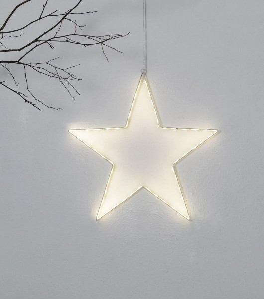 "LED-Silhouette ""Lumiwall"" - Stern - 54 warmweiße LEDs auf Metallrahmen - H: 50cm - outdoor"