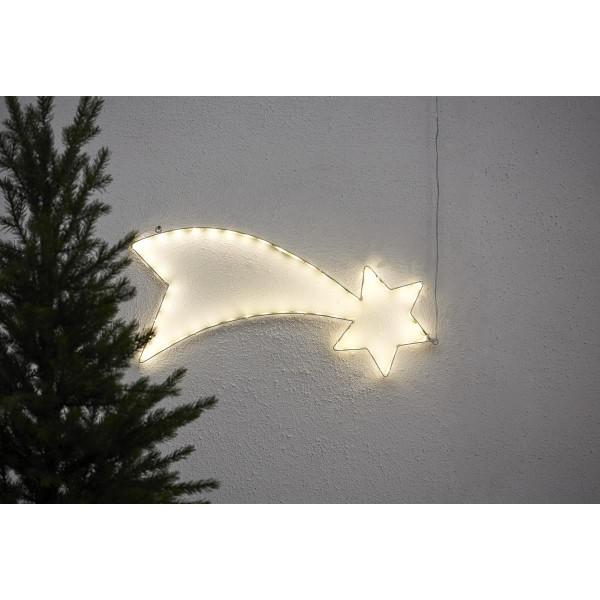 "LED-Silhouette ""Lumiwall"" - Stern - 54 warmweiße LEDs auf Metallrahmen - H: 30cm - outdoor"