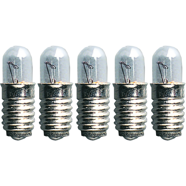 Ersatz-Leuchtmittel - E5 - 12V - 1,2W - 5 Stück