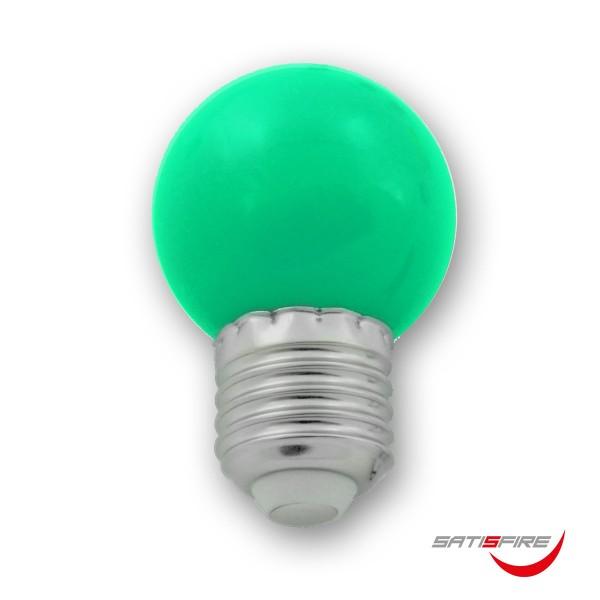LED Leuchtmittel G45 - grün - E27 - 1W | SATISFIRE