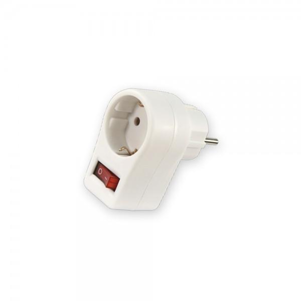Steckeradapter mit Schalter - beleuchtet - max . 3500W - Schutzkontakt