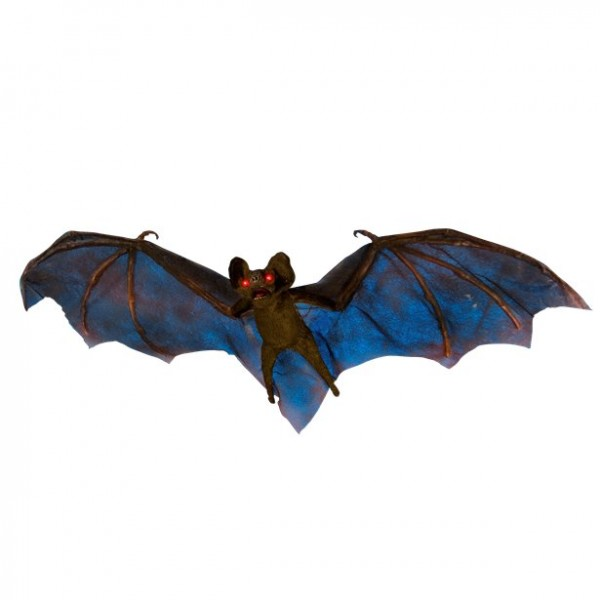 Halloween Fledermaus 80cm - mit leuchtenden, roten Augen - inklusive Batterien