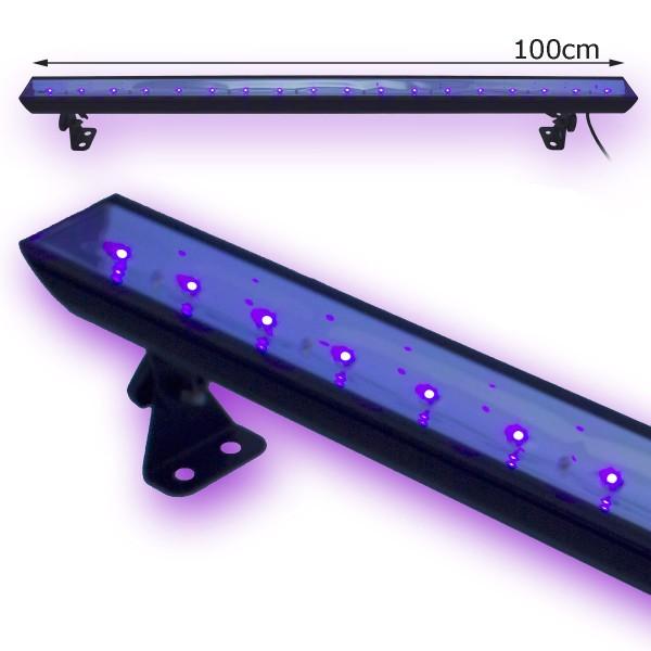 UV100LED BAR - 18x3W Schwarzlicht Bar - Metallgehäuse schwenkbar - SATISFIRE