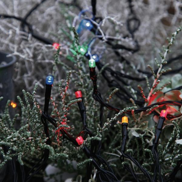 LED-Lichterkette | Serie LED | Outdoor | 12m schwarzes Kabel | 240 bunte LED | Controller