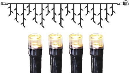 System DECOR | LED Lichtervorhang |koppelbar| 4x0,4m | schwarzes Kabel | 140 warmweiße LEDs
