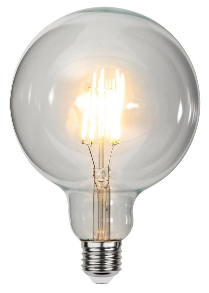 LED GLOBE FILA G125 - E27 - 6W - warmweiss 2700K - 600lm - klar - dimmbar