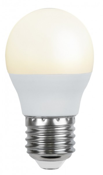 LED Kugellampe - G45 kurz - 4,8W - warmweiss 3000K - E14 - 440lm - gefrostet