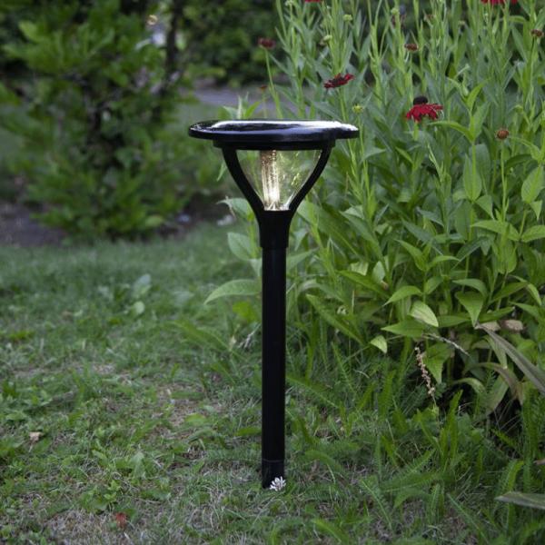 "LED Solar Wegleuchte ""Mervia"" - warmweiße LED - 40lm - H: 34cm - Dämmerungsensor - schwarz"