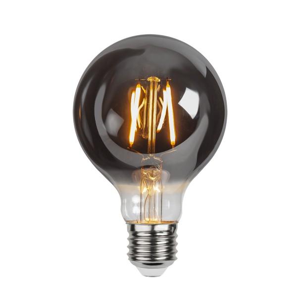 LED Leuchtmittel Filament GLOW G80 - Kugel - E27 - 1,8W - ultra-WW 2100K - 80lm - D: 80mm - smoked