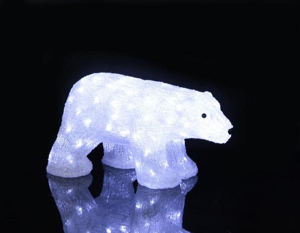 """LED-Acrylbär """"Crystal Bear"""" - 90 kaltweiße LED - H: 25cm - stehend - outdoor"""