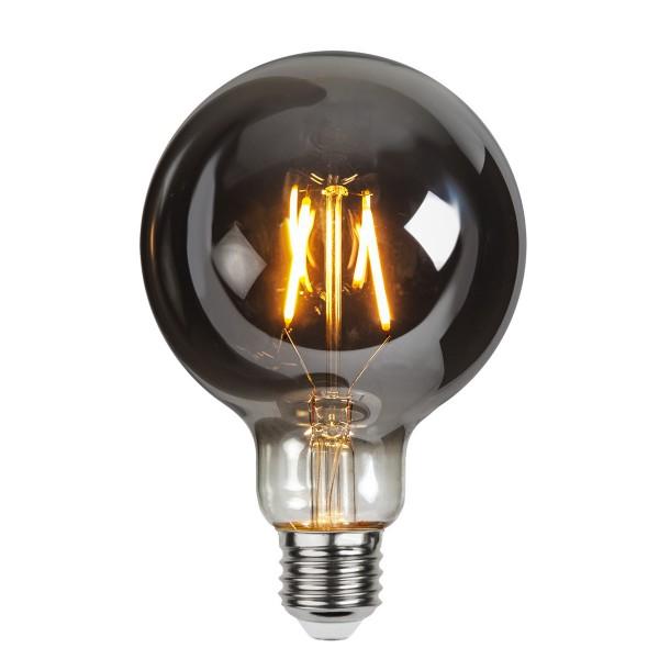 LED Leuchtmittel Filament GLOW G95 - Kugel - E27 - 1,8W - ultra-WW 2100K - 80lm - D: 95mm - smoked