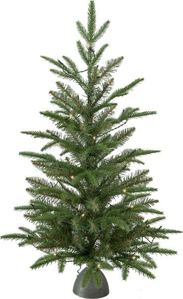 "LED-Tannenbaum ""Tippy"" - 30 warmweiße LEDs - grün - H: 90cm, D: 54cm - Plastikfuss - Batterie - Timer"