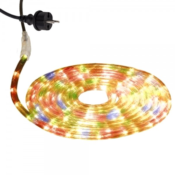 Lichtschlauch ROPELIGHT MICRO | Outdoor | 216 Lampen | 6,00m - bunt / mehrfarbig
