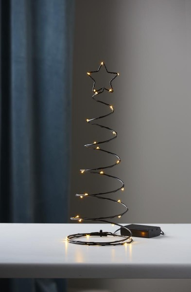 "LED-Dekoleuchte ""Dizzytree"" - 30 warmweiße LED  - H: 40cm - Material: Metall, schwarz"