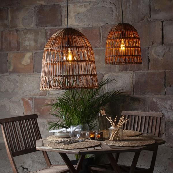 Lampenschirm KNUTE wetterfest - für E27 Fassungen - natur braun - D: 48cm - H: 50cm