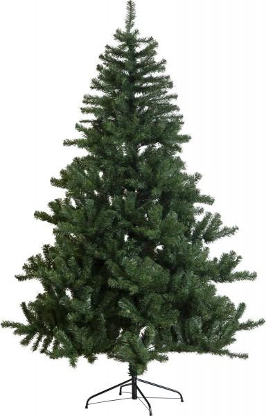 """Weihnachtsbaum """"New Quebec"""" - H: 210cm, D: 140cm - Farbe: grün - mit Metallfuss - outdoor"""
