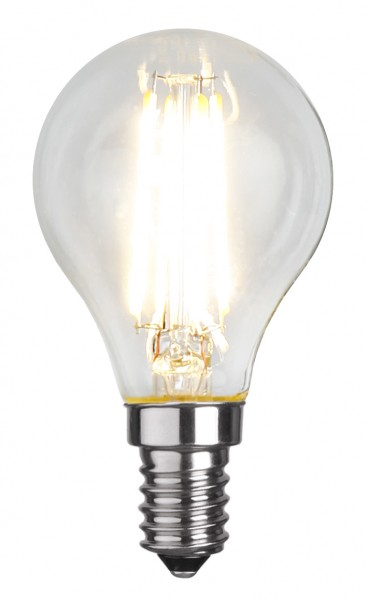 LED Tropfenlampe FILA P45 - E14 - 4W - warmweiss 2700K - 470lm - klar
