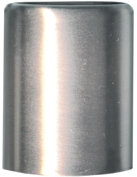 Kerzenfuß silber/stahl - Höhe: 3,2cm, Durchmesser: 2,5cm - 7 Stück Set