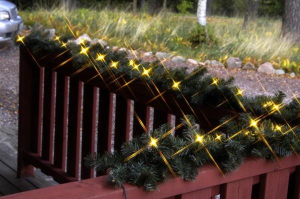 LED-Tannengirlande - Ottawal Line Outdoor - 36x Warmweiß - 2,70m - Grün
