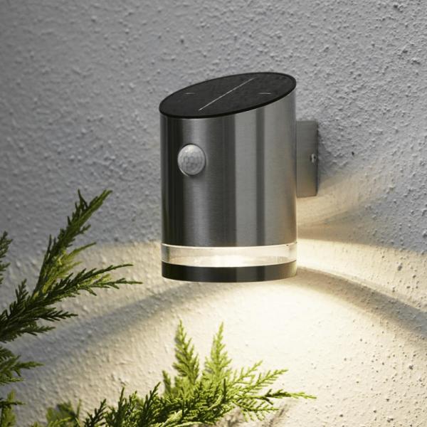"""B-Ware LED Solar Wandleuchte """"Venice"""" - 4 warmweiße LED - H: 15cm - Bewegungs- & Dämmerungssensor -"""