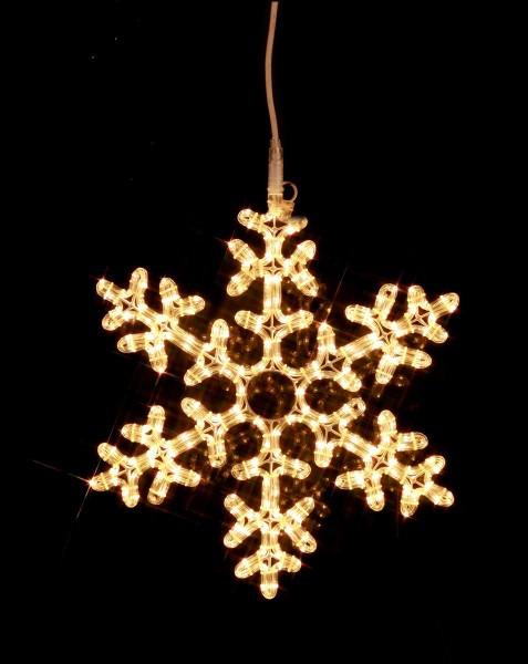 "LED-Ropelight-Silhouette ""Schneeflocke"" - koppelbar - 216 warmweiße LEDs - D: 50cm - outdoor"