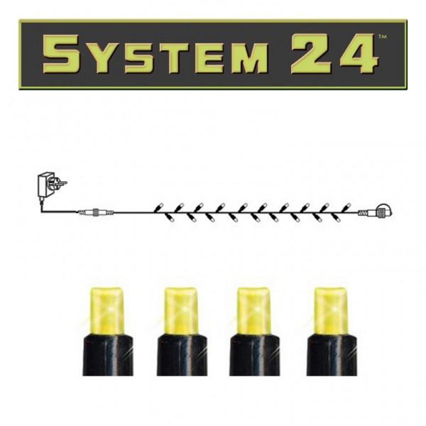 System 24 | Lichterkette Starter Set 10m| koppelbar | 98 warmweiße LEDs | inkl. Trafo
