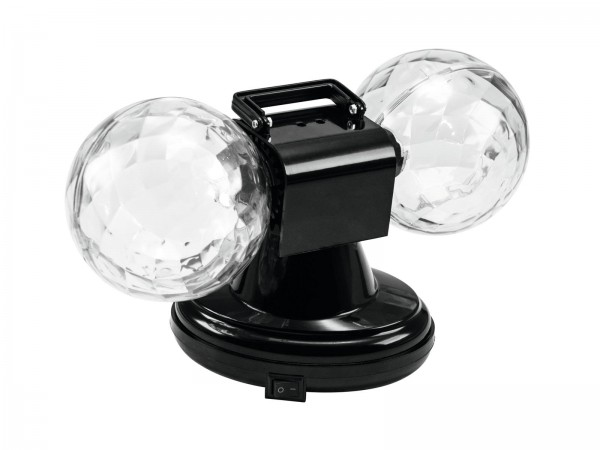 LED Mini Double Ball - Farbenfroher Lichteffekt mit Doppelkugel - Plug&Shine
