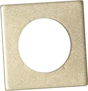 Kerzenring für Stabkerzen - gold - 7 Stück - 3,2x3,2cm - H: 0,2cm - Tropfschutz