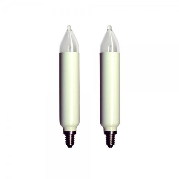 Ersatzkerzen 2er Pack - E10 - 34V - 3W - H: 12cm - D: 2cm