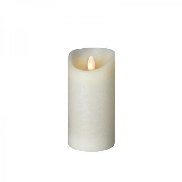 SOMPEX LED Wachskerze SHINE | elfenbein | gefrostet | D: 7,5cm H: 15cm | fernbedienbar | Timer