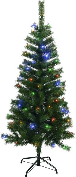 "LED-Weihnachtsbaum ""Kalix"" - 80 bunte LEDs - H: 150cm, D: 75cm - grün - mit Metallfuss - outdoor"