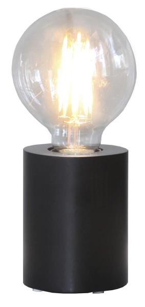 Lampenhalterung | TUB | E27 | Weiß | stehend | klein | ↑10cm | Schwarz