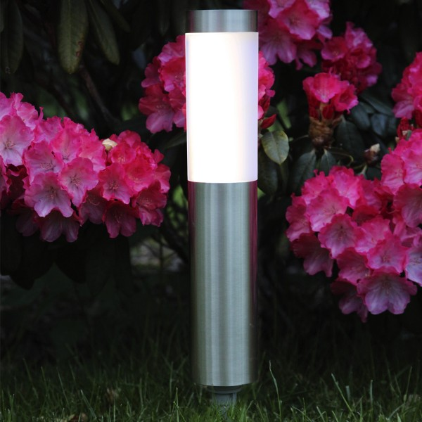 LED Solar Wegleuchte CORDOBA - Edelstahl - warmweiße LED - 20lm - Dämmerungsensor - silber