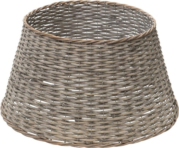 Weidenkorb für Baumständer - lichtgrau - D(u): 59cm - D(o): 43cm - H: 29cm