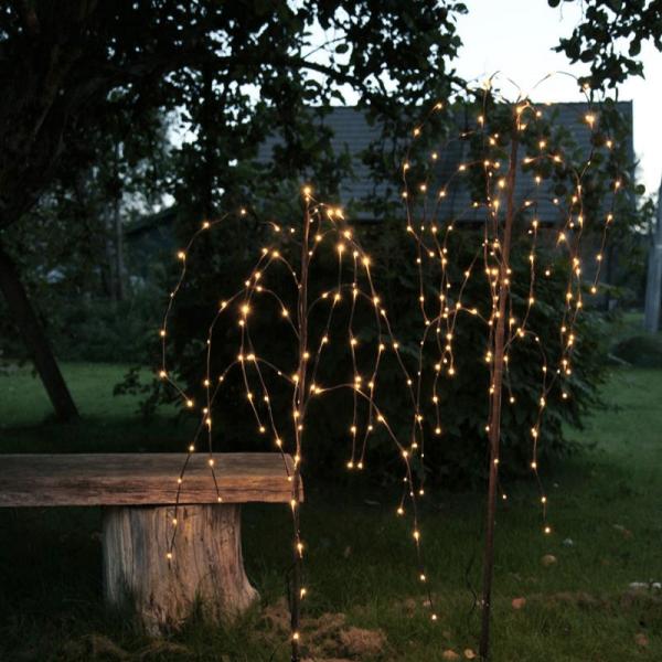 LED Leuchtbaum/Trauerweide - 96 warmweißen LED - H: 110cm - Trafo - Outdoor - braun