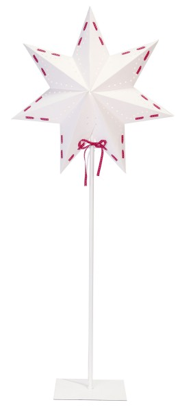 Papierstern | Vira | Stehend | 7-zackig | 82cm Höhe | Weiß