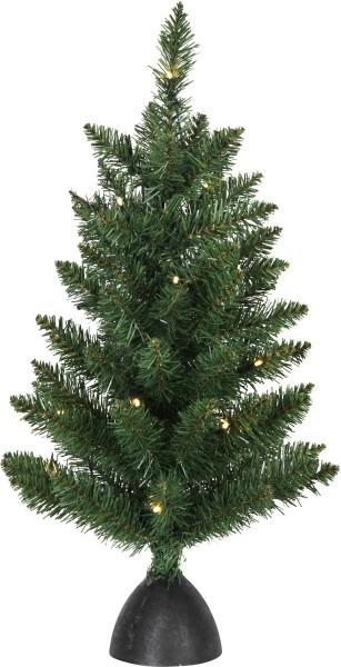 "LED-Tannenbaum ""Tippy"" - 20 warmweiße LEDs - grün - H: 60cm, D: 35cm - Plastikfuss - Batterie - Timer"