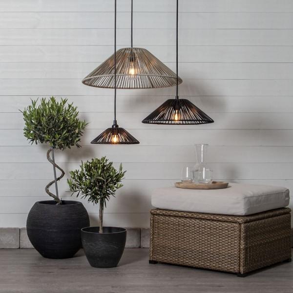 Lampenschirm VIDE wetterfest - für E27 Fassungen - schwarz - D: 25cm - H: 8cm
