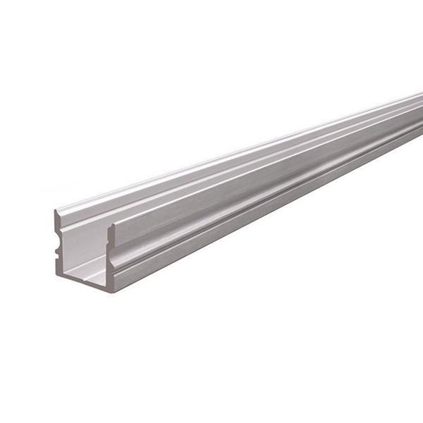 Hohes U-Profil - 1 Meter - Aluminium gebürstet - Außen: 16x15 - Breite innen: 11,7mm
