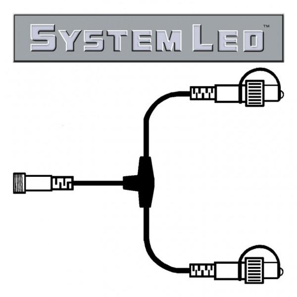 System LED Black | Verteiler | koppelbar | exkl. Trafo | T-Verbinder