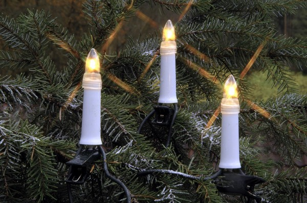 LED-Kerzenkette | XMAS | Outdoor | Strang | ↑11,5cm | 16,80m | 25er Set