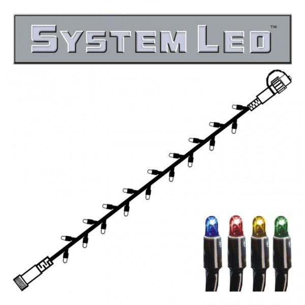 System LED Black | Lichterkette | koppelbar | exkl. Trafo | 5,00m | 50x Bunt