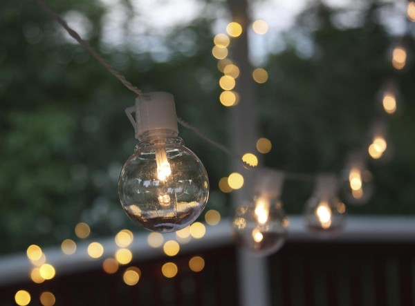 LED-Partylichterkette - Party Line Outdoor - 4,50m - 16x2x Warmweiß - Transparent