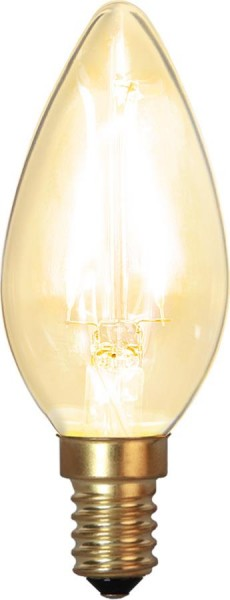 LED Kerzenlampe FILA GLOW - C35 - E14 - 1,5W - warmweiss 2100K - 120lm - klar