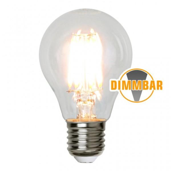 LED Tropfenlampe FILA A60 dimmbar - E27 - 4W - warmweiss 2700K - 400lm - klar