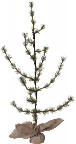 """Tannenbaum """"Larix"""" - H. 90cm, D: 50cm - Schneespitzen  - im Jutesack"""